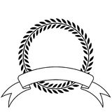 Laurel wreath and ribbon royalty free illustration
