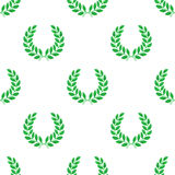 Laurel wreath. Seamless pattern with hand-drawn Royalty Free Stock Photo