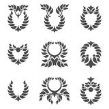 Laurel wreath. Set of abstract foliate element. Laurel wreath Royalty Free Stock Images