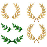 Laurel wreath set Stock Photos