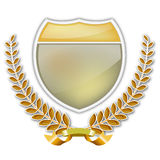Laurel wreath and shield Stock Photography