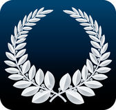 Laurel wreath silver (vector) Stock Photos