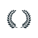 Laurel wreath , simple concept logo Stock Photos