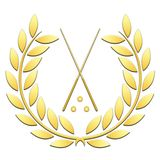 Laurel wreath sport billiard on a white background royalty free illustration