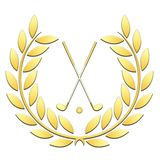Laurel wreath sport golf on a white background vector illustration