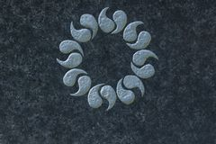Laurel wreath on stone surface symbol of immortality, Stock Photo