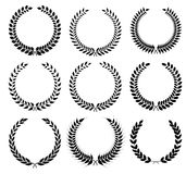 A laurel wreath - symbol of victory and achievement. Royalty Free Stock Photo