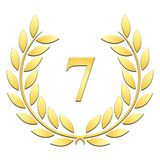 Laurel wreath 7th anniversary on a white background stock illustration