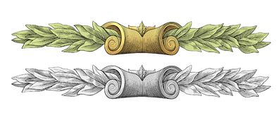 Laurel wreath vector Royalty Free Stock Image