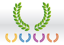 Laurel wreath vector. Suggested colors stock illustration