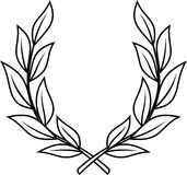 Laurel wreath (Vector). Vector laurel wreath on white background vector illustration