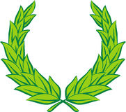 Laurel wreath (Vector). Vector laurel wreath on white background stock illustration