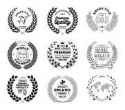 Laurel Wreath Vector Basic Black Collection royalty free illustration