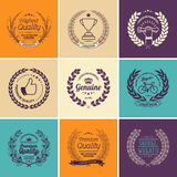 Laurel Wreath Vector Colorful Collection illustrazione di stock