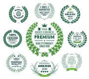 Laurel Wreath Vetora Green Collection ilustração royalty free