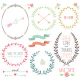 Laurel Wreath Wedding vektor illustrationer