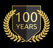 Laurel wreath 100 years Royalty Free Stock Images