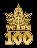 Laurel wreath 100 years stock illustration
