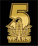 Laurel wreath 5 years royalty free illustration