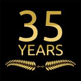 Laurel wreath 35 years Royalty Free Stock Photos