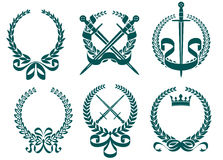 Laurel wreathes with heraldry royalty free illustration