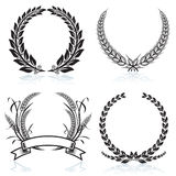 Laurel Wreaths stock illustration