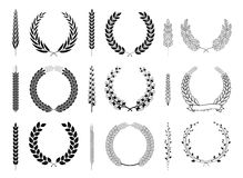 Laurel Wreaths and Branches Vector Collection Royalty Free Stock Photography