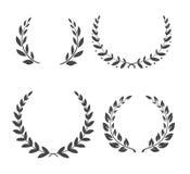 Laurel Wreaths Collection Icônes de gloire sur le blanc ENV 10 illustration stock