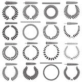 Laurel wreaths collection Royalty Free Stock Photos