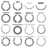 Laurel wreaths collection Royalty Free Stock Images