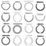 Laurel wreaths collection Stock Photos