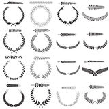 Laurel wreaths collection Royalty Free Stock Photo