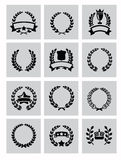 Laurel wreaths icon Royalty Free Stock Images
