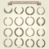 Laurel Wreaths. Set in different style Stock Photography