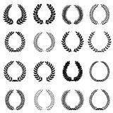 Laurel wreaths set. Stock Image