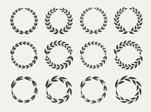 Laurel wreaths set Royalty Free Stock Photo