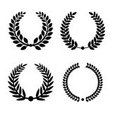 Laurel Wreaths Set. Vector Royalty Free Stock Images