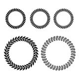 Laurel Wreaths Set. Vector Royalty Free Stock Image