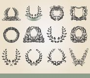 Laurel wreaths Royalty Free Stock Photos