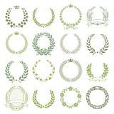 Laurel Wreaths Vector Collection Stockbild