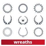 Laurel Wreaths Vector Collection illustrazione vettoriale
