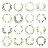 Laurel Wreaths Vector Collection Stock Image