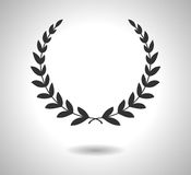 Laurel wreaths vector icon. Sign of glory isolated on white. EPS Royalty Free Stock Photography