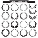 Laurel wreaths vector Royalty Free Stock Photo