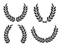 Laurel Wreaths Vector. Laurel wreaths set vector isolated Stock Images