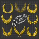Laurel wreaths vector set Stock Image