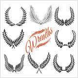 Laurel wreaths vector set Royalty Free Stock Photography
