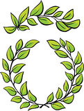 Laurel Wreaths Vector on white background Royalty Free Stock Photo