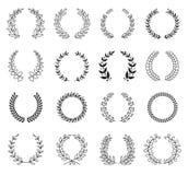 Laurel Wreaths Vetora Collection ilustração stock