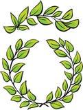 Laurel Wreaths Vetora no fundo branco ilustração stock